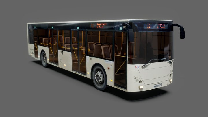 City Bus - rigged 3D Model