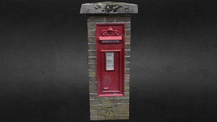British Post Box and brick surround 3D Model
