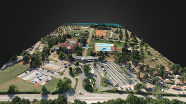Camp Park Umag - Sea, HQ 3D Model