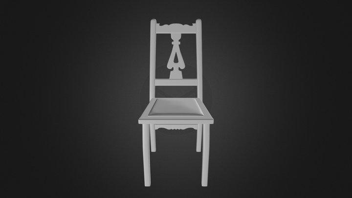 Wooden Chair 1 3D Model