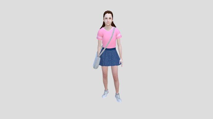 SSD KID GIRL 1 V2 3D Model