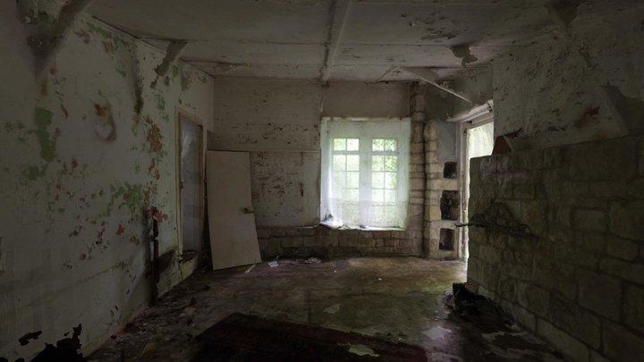 Abandoned House Livingroom 3D Model