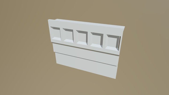 Wall With 5 Segments 3D Model