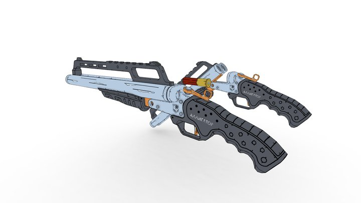 shotgun - Alligator (concept) 3D Model