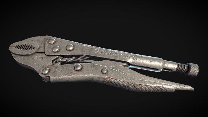 Vise-Grip Lowpoly Bake 3D Model