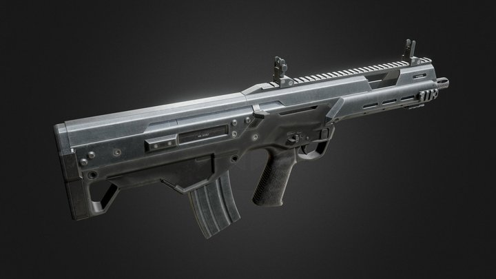 MS556 Bullpup Assault Rifle 3D Model