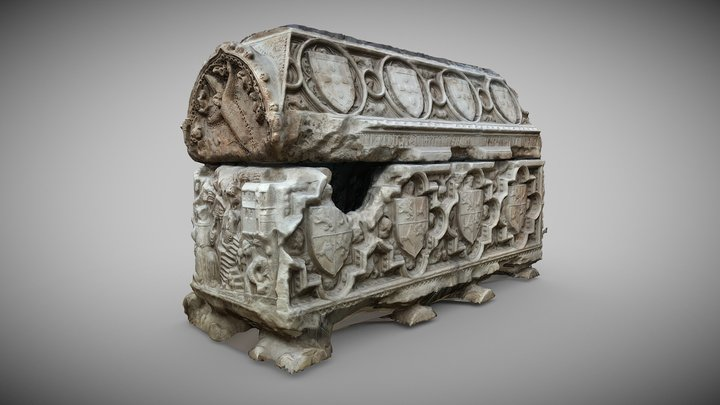 Medieval Tomb of Ferdinand I of Portugal 3D Model