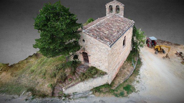 Chiesetta Marche, Small Church Marche Region Ita 3D Model