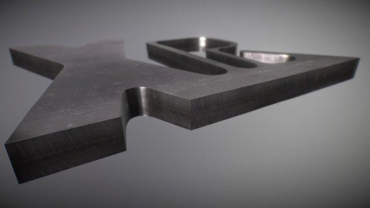 Образец резки нержавеющей стали 3D Model