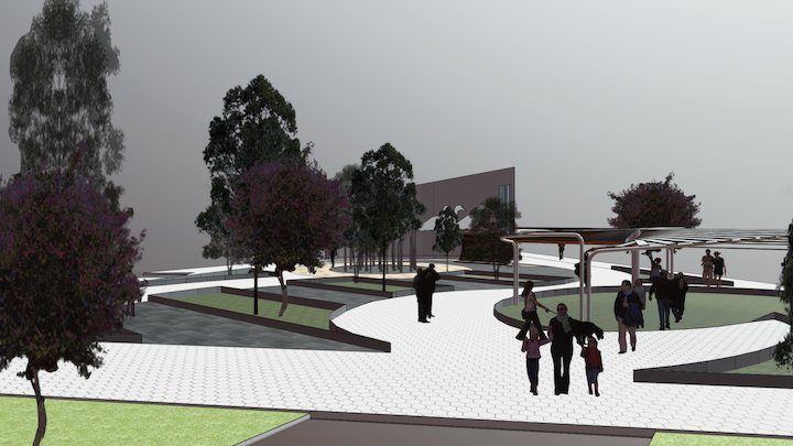 Recreative Plaza /Plaza recreativa 3D Model
