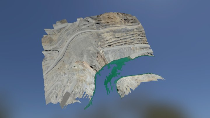 Mining wall mapped 3D Model