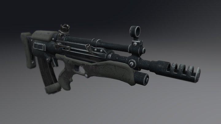 Bullpup rifle 3D Model