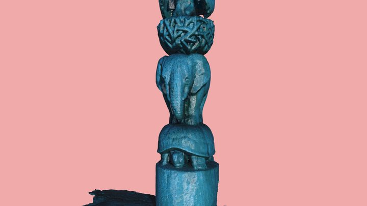 Lorrimore Square Totem Pole Remains 3D Model