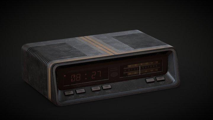 80s Alarm Clock 3D Model