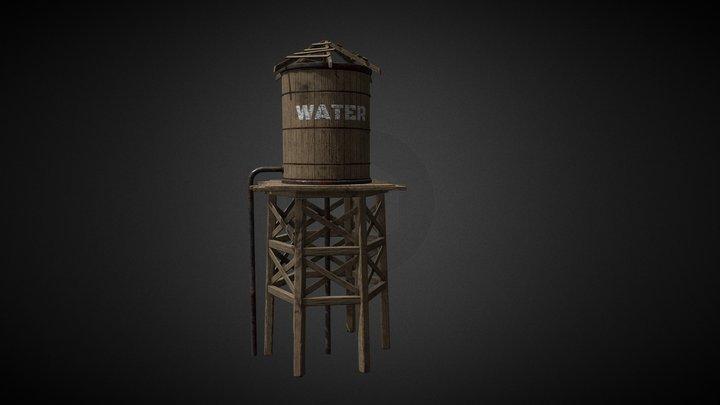 Water Tower Western 3D Model