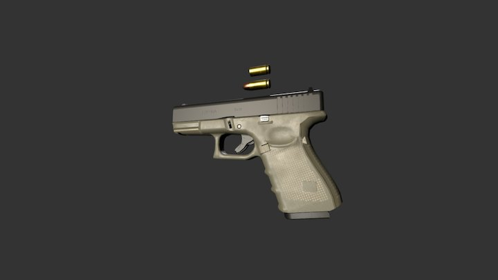 G19 Pistol 3D Model