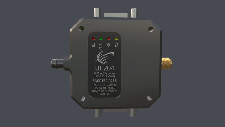 UC204 Altitude Encoder & GPS w/CAN 3D Model