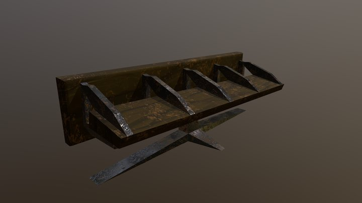 Forgotten & Abandoned Subway Bench 3D Model