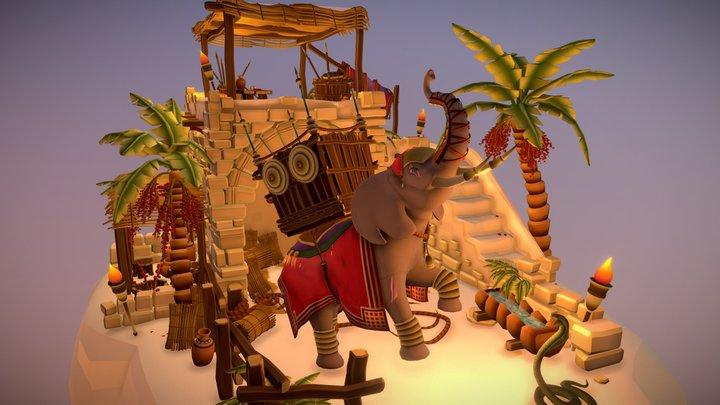 1001 Elephants 3D Model