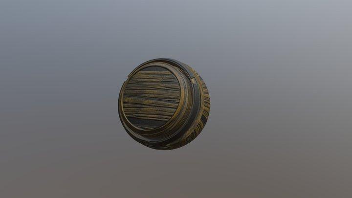 Worn Wood 3D Model