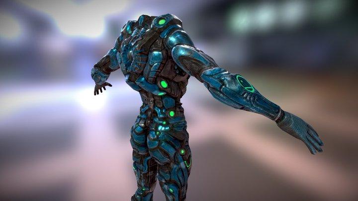 Female Body Armor 3D Model