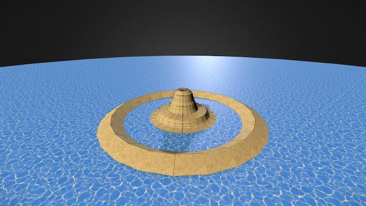 Atoll Volcano 3D Model