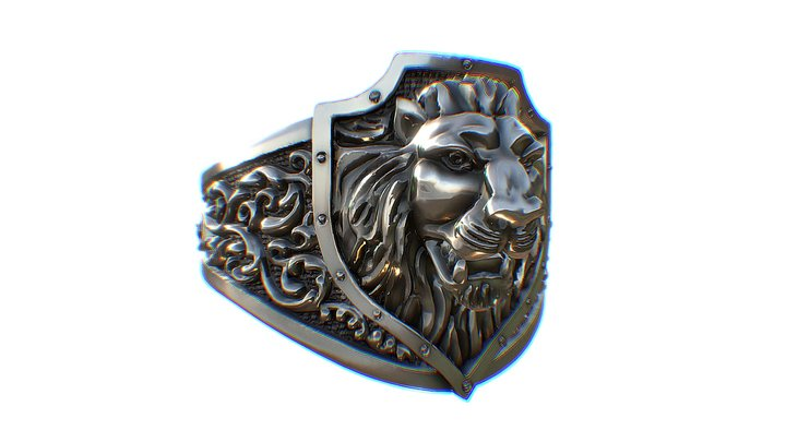 Lion Shield 3D Model