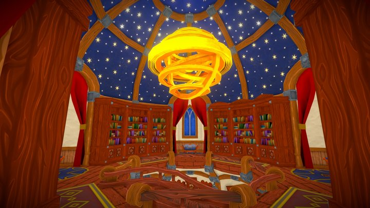 Mozilla Hubs Challenge - Wizard's Library 3D Model