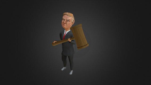 Donald Trump (Bash the Vote 2016) 3D Model