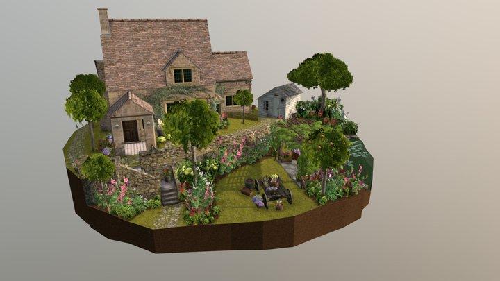 1GGP03 Tom Pauwaert - English Cottage Diorama 3D Model