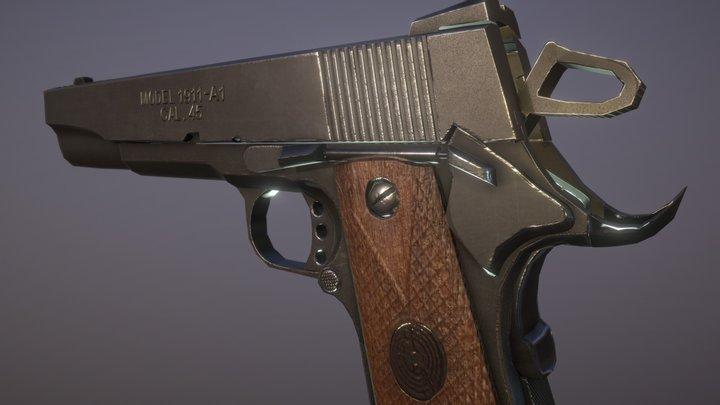 M1911_lowpoly 3D Model