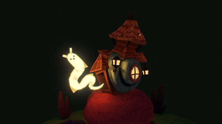 haunted snail house. 3D Model