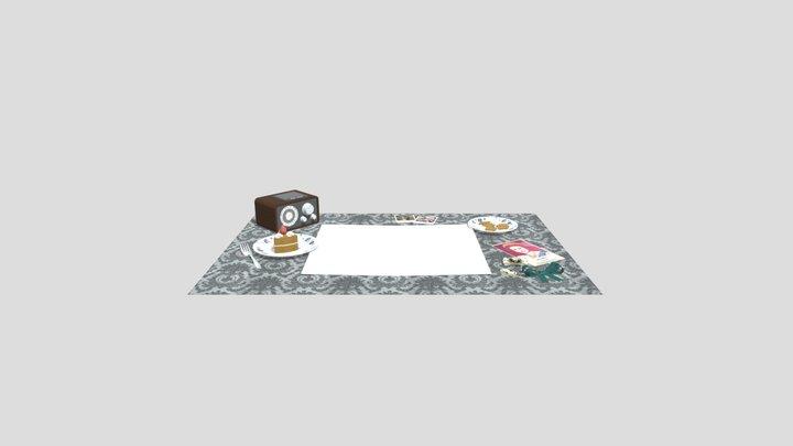 Poppy Flat Lay 3D Model