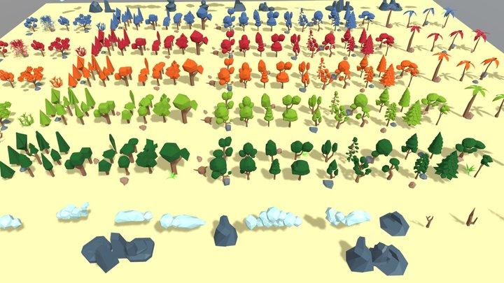 Polygon Tree Pack 3D Model