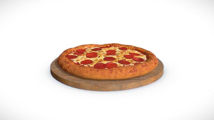 Food Series #4 - Pepperoni Pizza 3D Model
