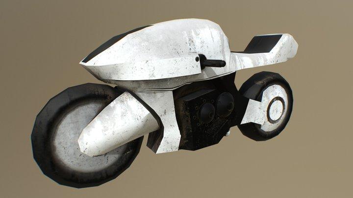 Sci Fi Moto 3D Model