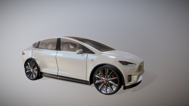 Tesla MODEL X [Animation] 3D Model