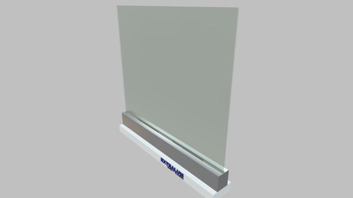 Barandal Pesado Plus Rectangular de EXTRALUM 3D Model