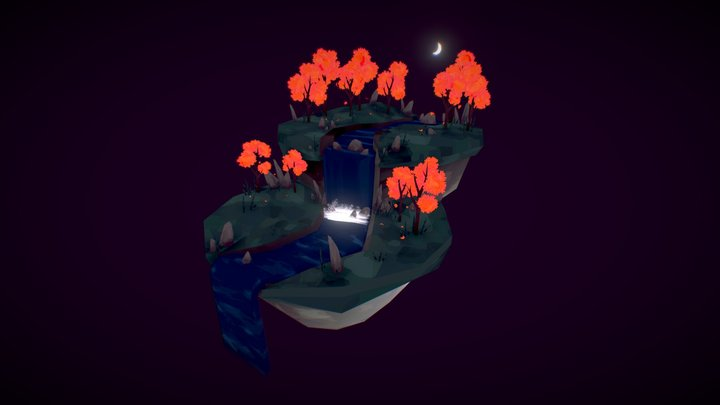 Maple Biome Diorama 3D Model
