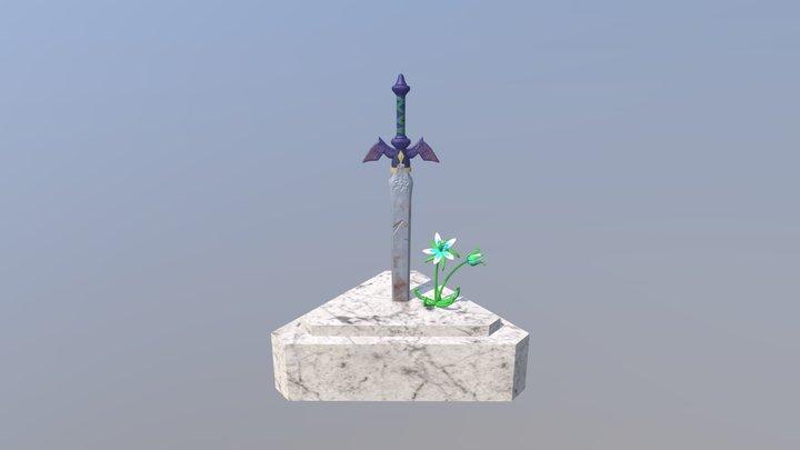 Legend Of Zelda BOTW Master Sword 3D Model
