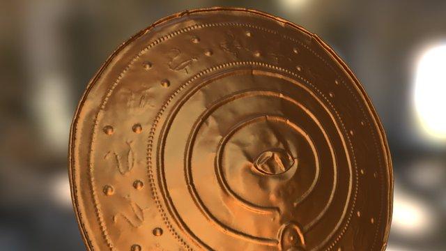 Nackhälleskölden - Laser-scanned Bronze Shield 3D Model