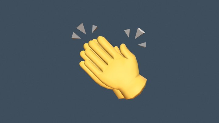 👏 Clapping hands emoji (Low poly) 3D Model