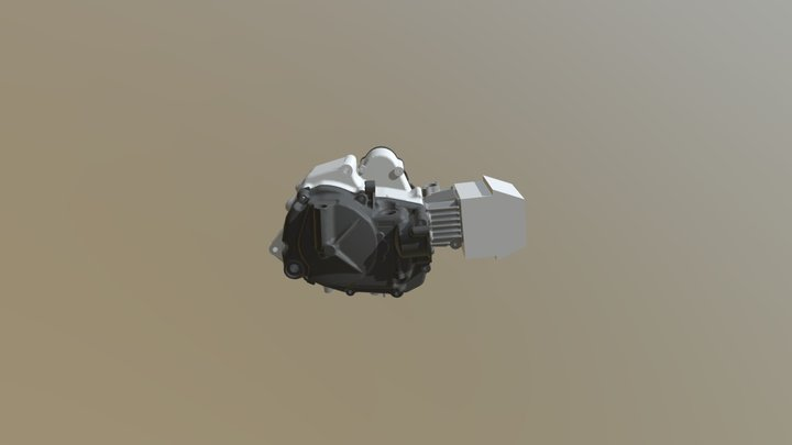 SUZUKI-GAGorGSXR-50_Engine assy 3D Model