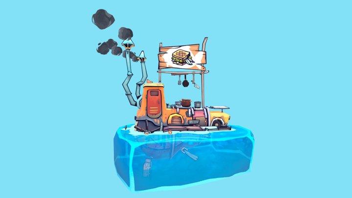 Flotsam - FoodTruck 3D Model