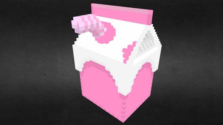 Trash - Milk Carton 3D Model