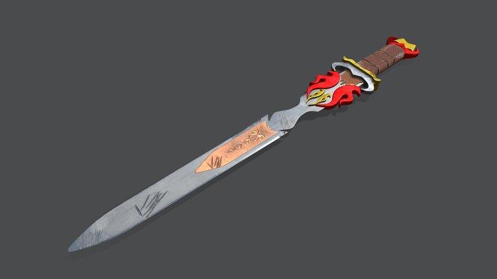 Warrior Sword 3D Model