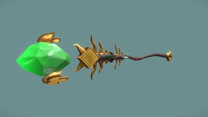 Stylized Aztec/Jungle Staff 3D Model