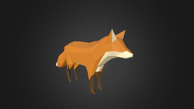Low poly fox by PixelMannen (Animated) 3D Model