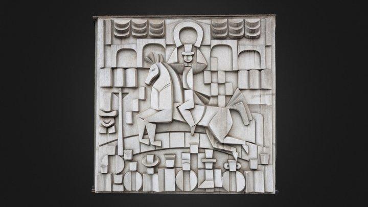 Cast concrete panel, Berlin. 3D Model