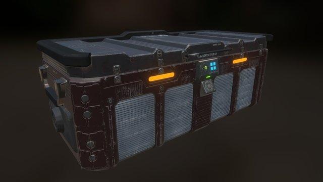 Sci-fi Loot Crate 3D Model